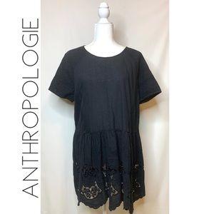 Anthropologie HD Paris open cutwork lace dress XL